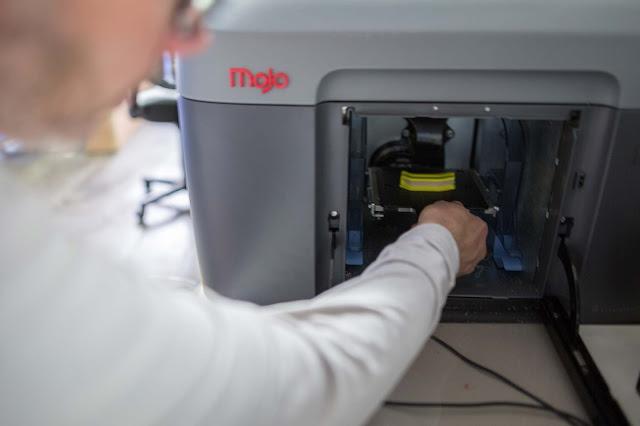 Die peronalisierten Bremshebel werden im 3D-Drucker hergestellt.
