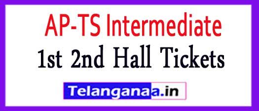Intermediate Hall Tickets 2017 AP TS Inter 1st 2nd Hall Tickets 2018