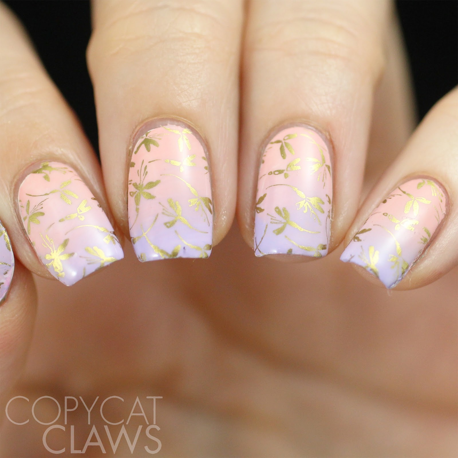 Copycat Claws: 26 Great Nail Art Ideas - Lilac, Pink & Gold