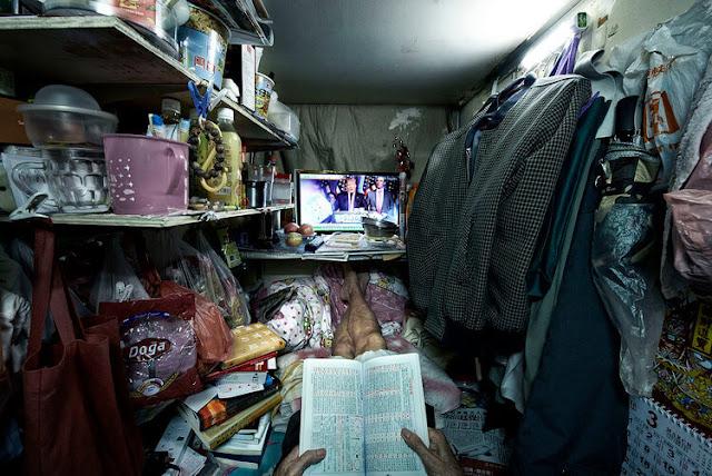 potret kamar warga miskin di hongkong