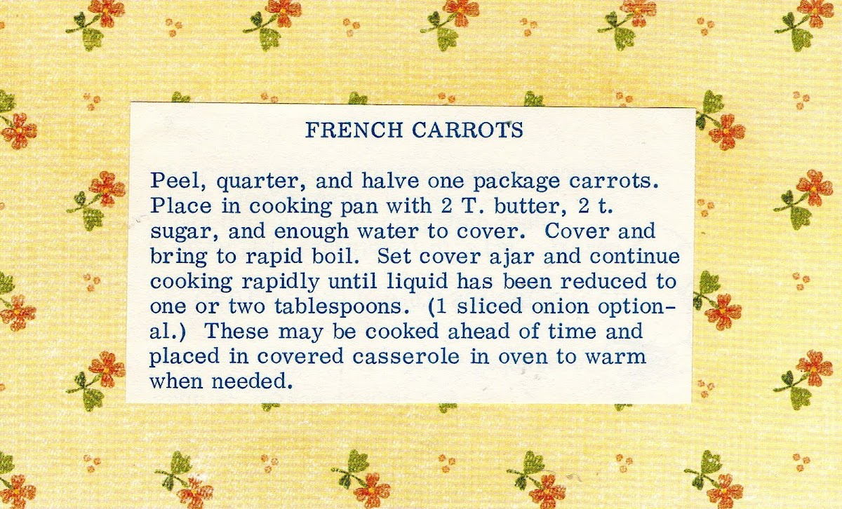 French Carrots (quick recipe)