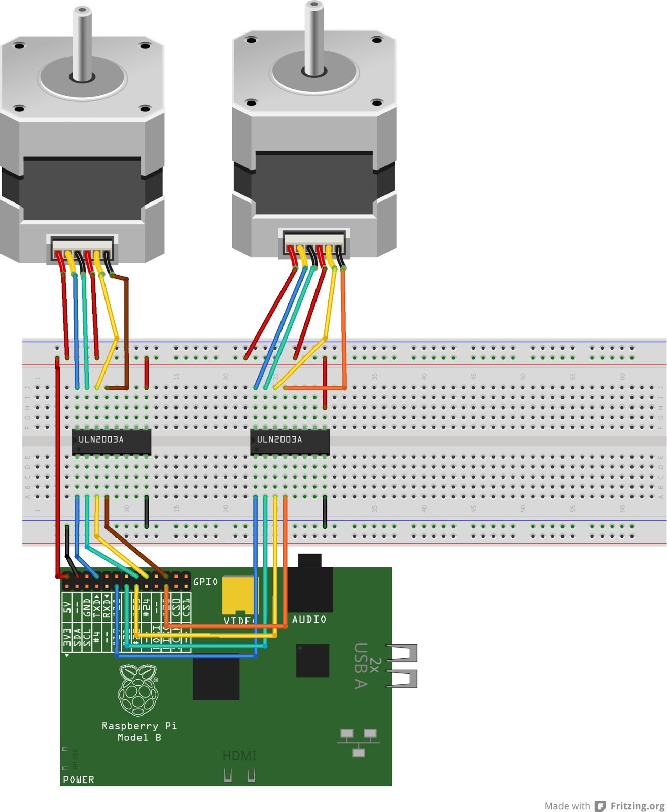Winkleink Box Of Wires Raspberry Pi Unipolar Stepper Motors B Circuit Diagram Blog About
