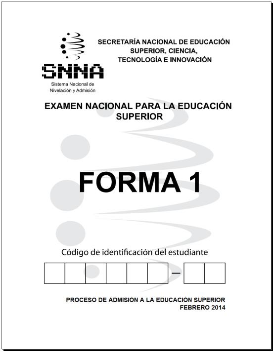 Prueba ENES 2014 - Examen de la senescyt
