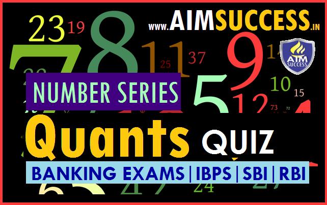 Number Series for SBI Clerk 2018: 07 April