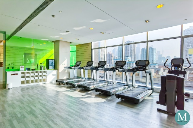 fitness center gym at Sofitel Guangzhou Sunrich