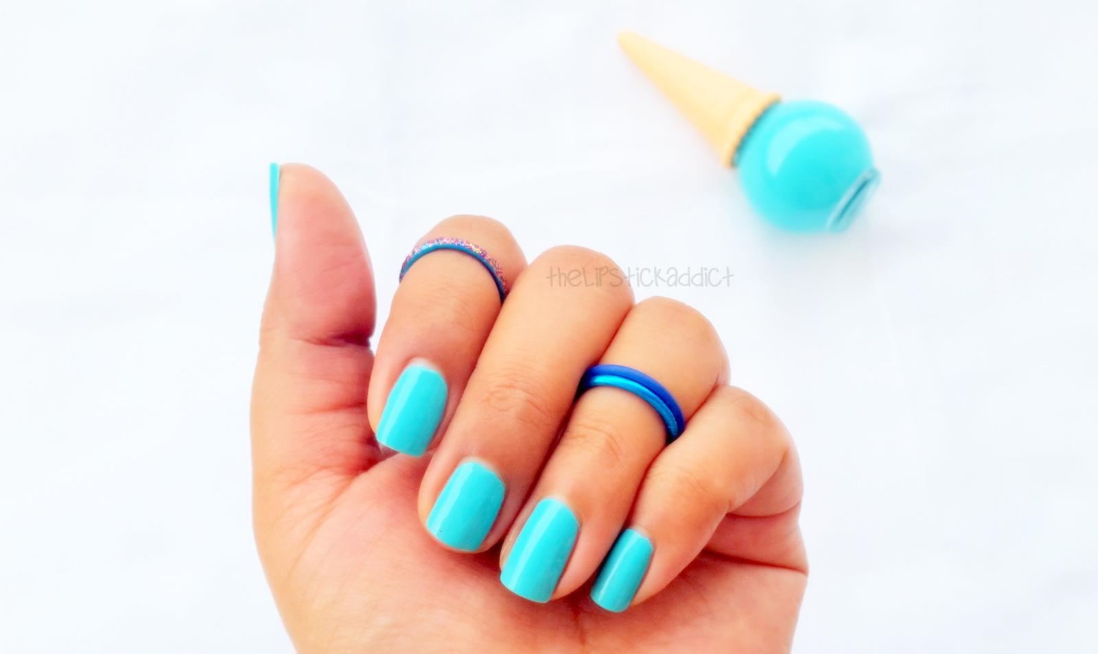 Etude House IceCream Nails Polish in Blue Mint