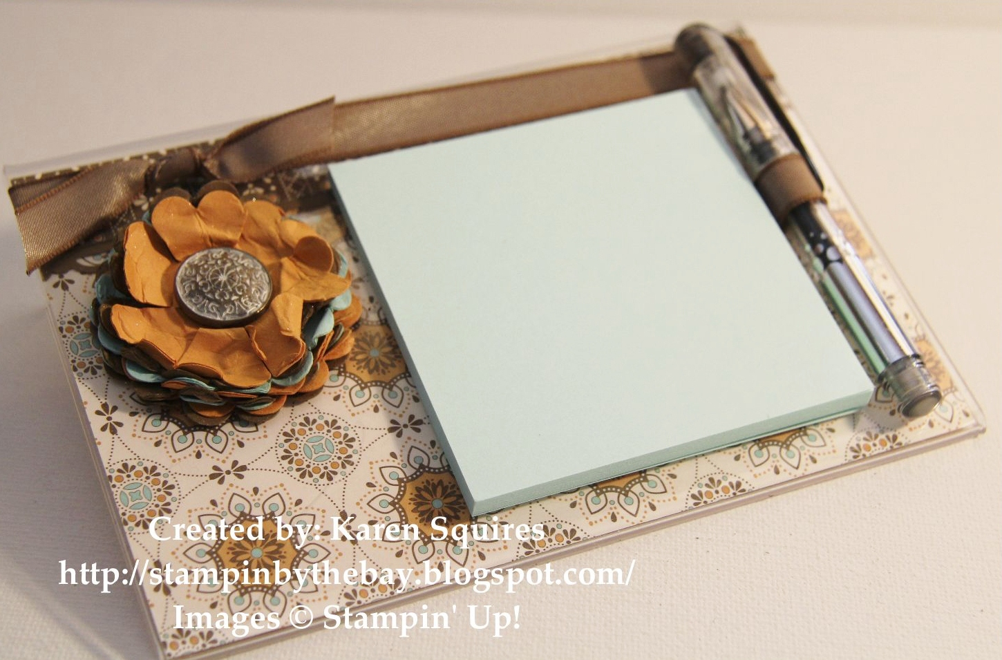 Stampin' By The Bay: Acrylic Post-It Note Holder