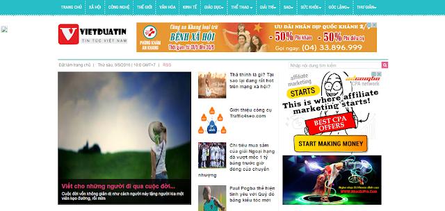 giao diện thiết kế web tin tức
