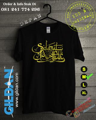 Kaos Lebaran Selamat Idul Fitri Warna Hitam