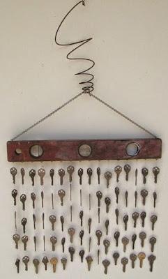 Bonita cortina móvil con llaves