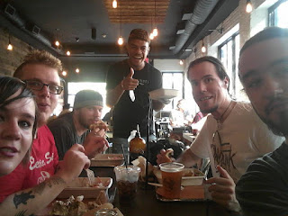 Me, Joe, Tyler, Jarred and Dillon at Mighty Quinn's in NYC :)