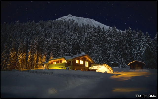 ảnh đêm mùa đông đẹp