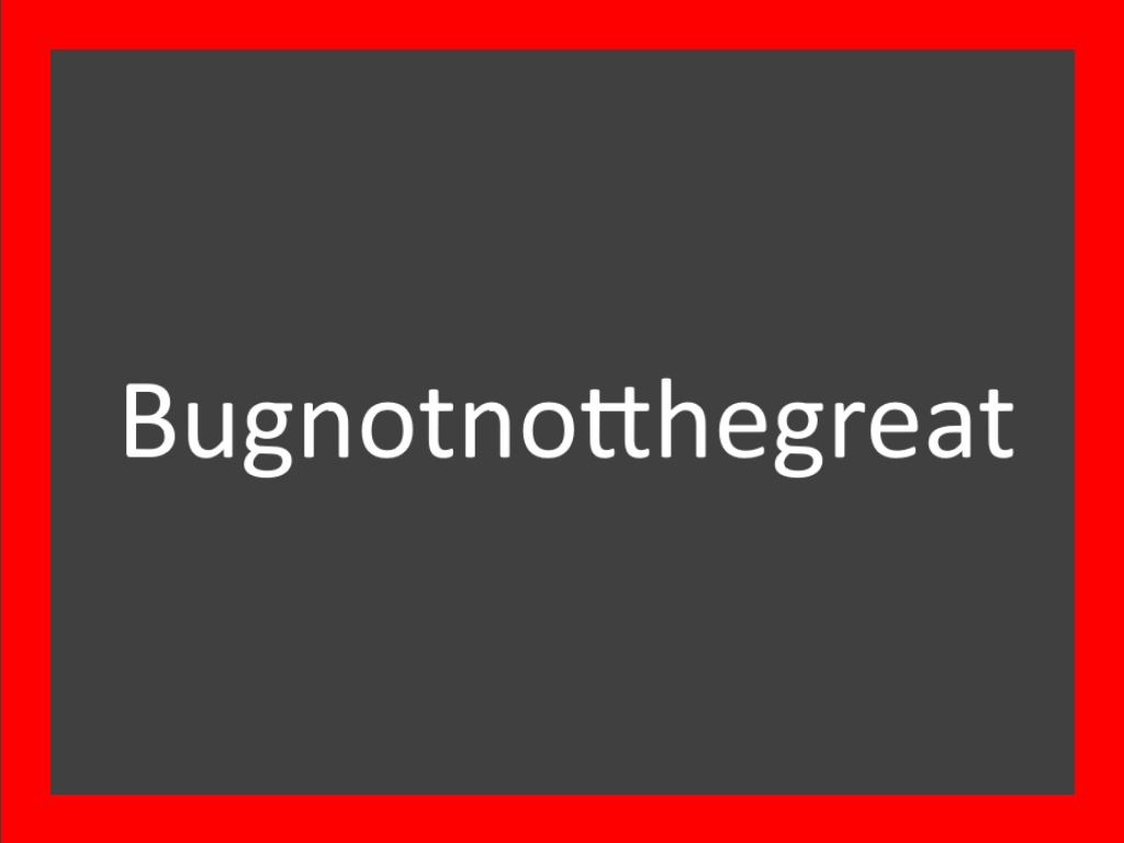 The bugnot blog