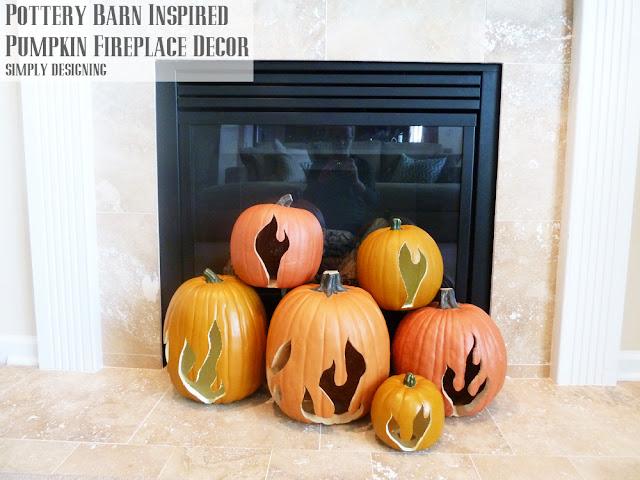 Flaming Pumpkin Decor | #spookyspaces #pumpkins #pumpkincarving #halloween #funkins
