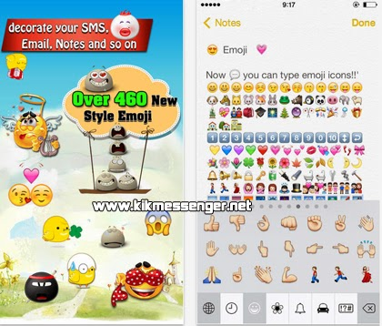 descarga Emoji Free Emoticon Keyboard para Kik Messenger