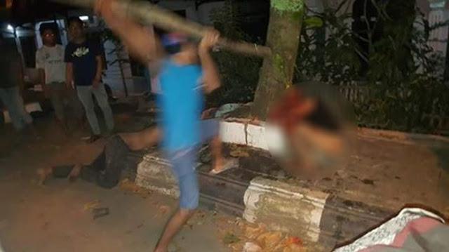 Enam Bocah Mandi Darah Dihajar Massa Setelah Kepergok Mencuri Sepeda di Jalan Teuku Umar.