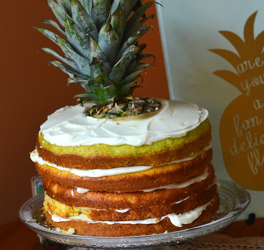 Pineapple Layered Cake Recipe from a Cake box