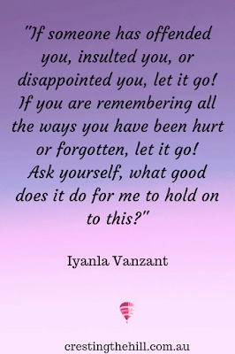 If someone disappoints you let it go! ~ Iyanla Vanzant