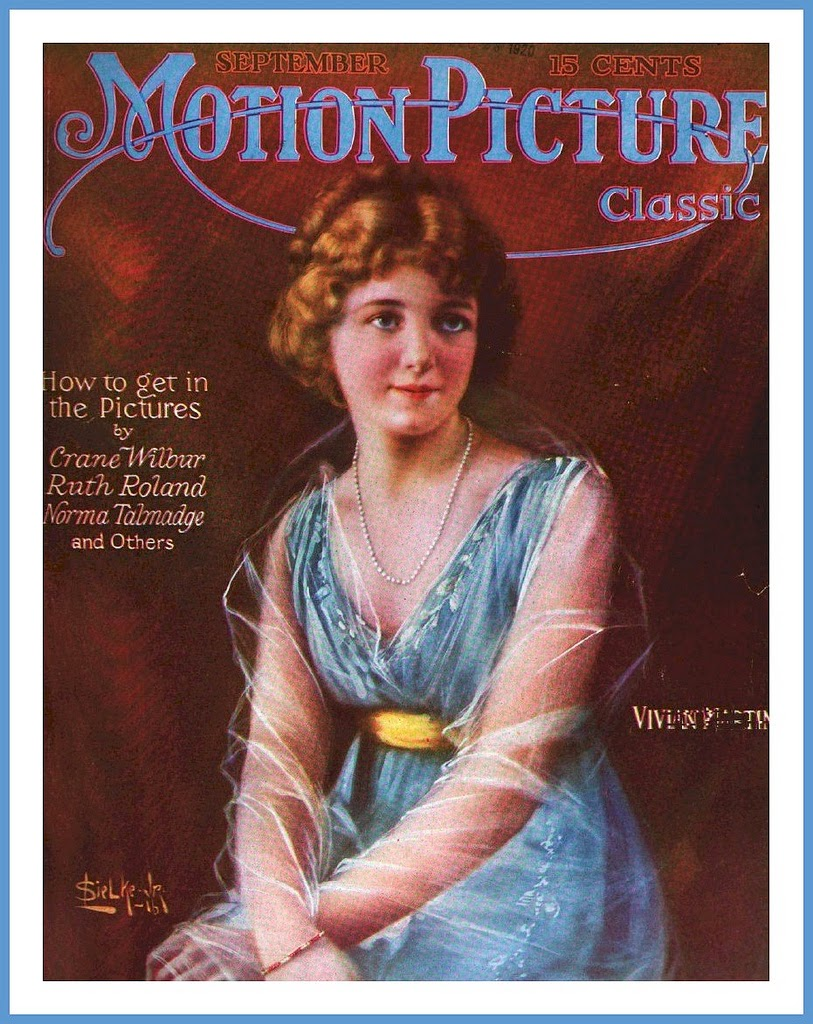 Vintage 'Motion Picture' Magazine Covers From 1916-1917