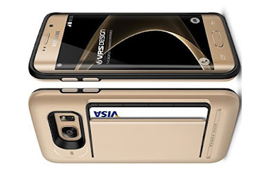 Best Galaxy S7 Edge Case: VRS Design [Damda Clip][Champagne Gold] - [Card Slot][Drop Protection][Heavy Duty][Money Clip][Wallet]