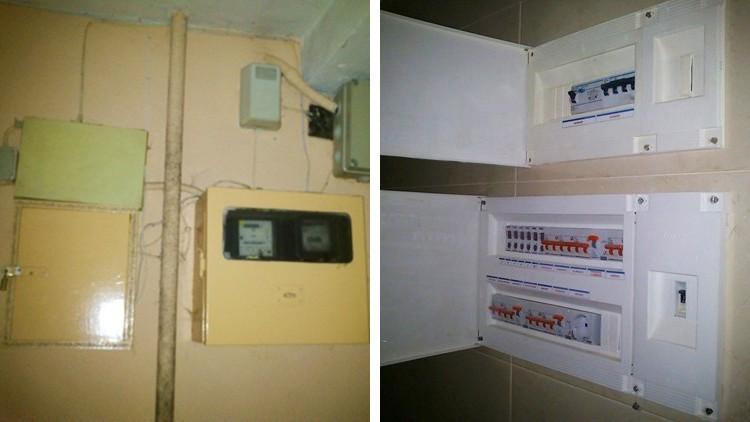 proyecto obra reforma portal contadores electricidad agua - cuadro
