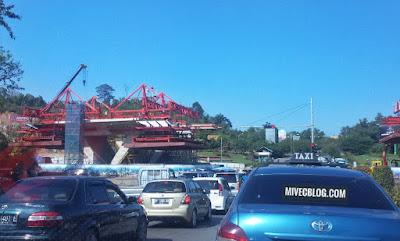Proses Pembangunan Flyover Simpang Jam