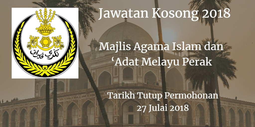 Jawatan Kosong MAIAMP 27 Julai 2018