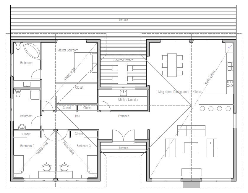 Cost Efficient Floor Plans Cost Efficient House Plan