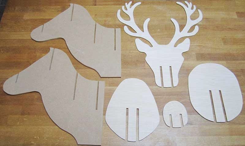tutoriel et gabarits imprimer troph e de cerf au 303 home deco. Black Bedroom Furniture Sets. Home Design Ideas