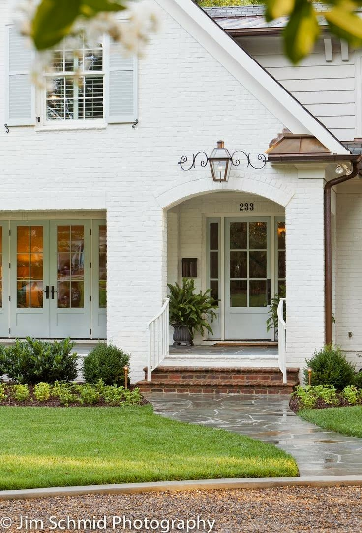 INSPIRED DESIGN: Trend Watch: Painted Brick Exteriors on Brick Painting Ideas  id=76723
