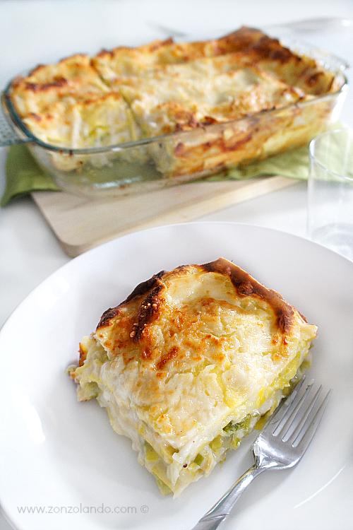 Lasagne ai porri ricetta vegetariana - delicious and veggie leek lasagna recipe