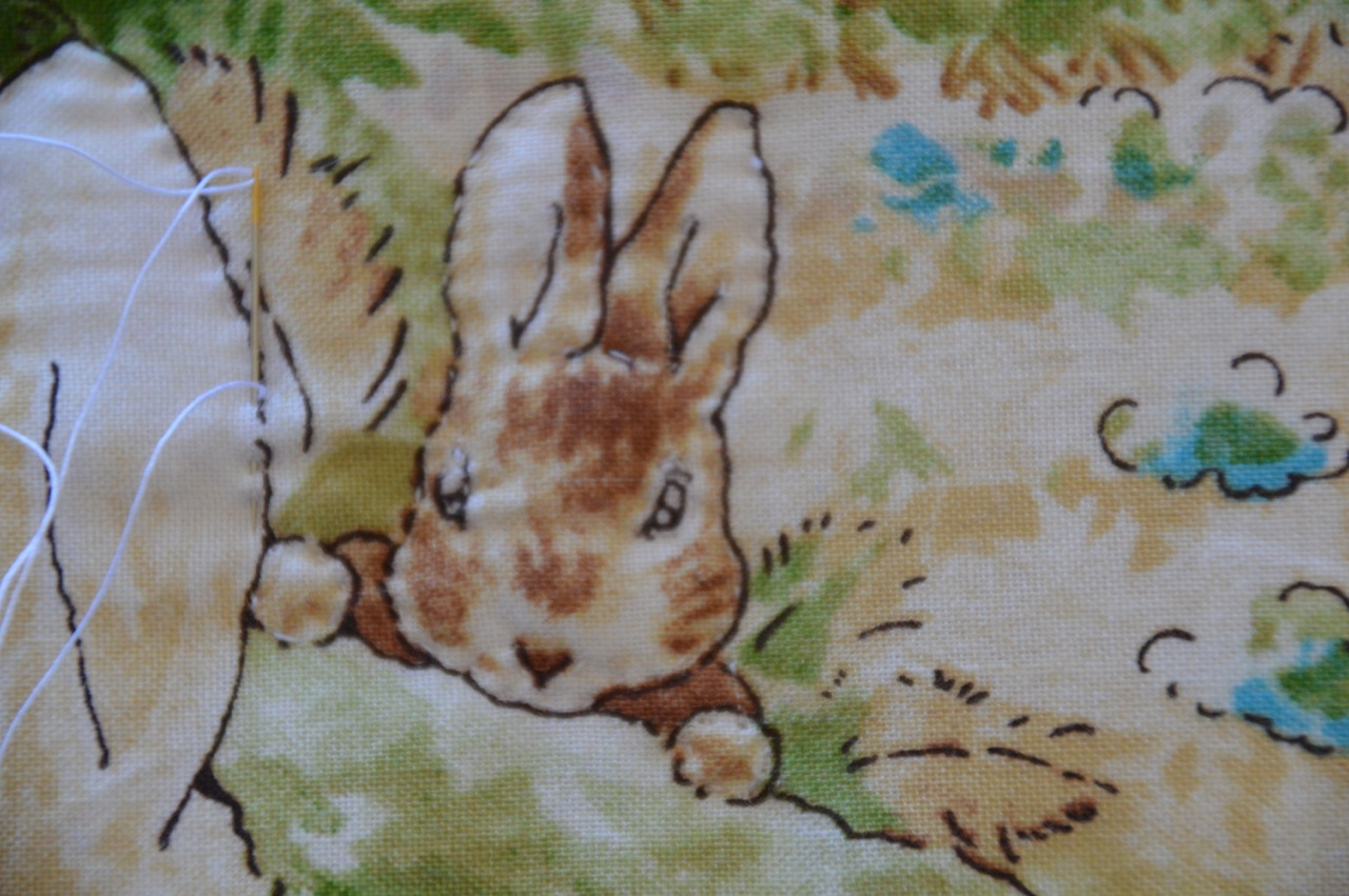 The Old Fashioned Baby Sewing Room Peter Rabbit Baby Blanket