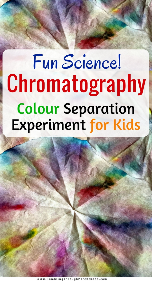Here is a simple experiment kids can do to get a hands-on experience of chromatography - the science of separating colours. It is all about making science fun! #STEM #funscience #scienceforkids #activitiesforkids #chromatography