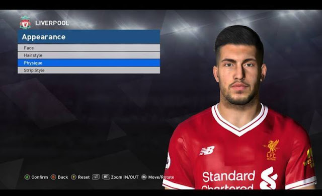 Emre Can Face (Liverpool F.C) PES 2017