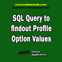 SQL Query to findout Profile Option Values, www.askhareesh.com