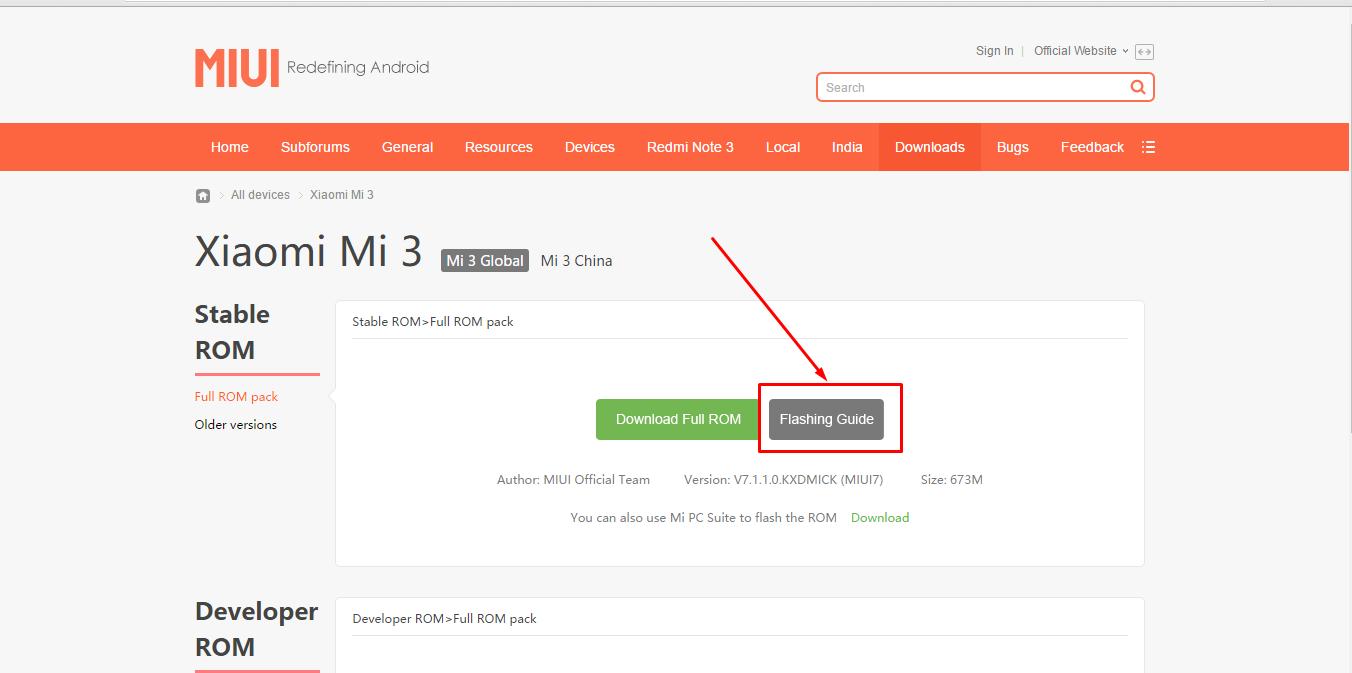 Cara Flash Xiaomi MI3 Lewat Fastboot - Rahmad
