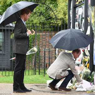 William & Harry Read Notes Left at Kensington Palace Gates