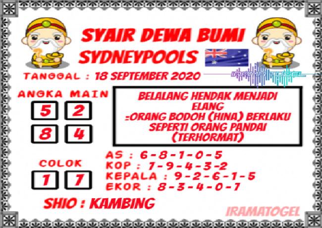 Kode syair Sydney Jumat 18 September 2020 146