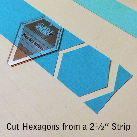 how to cut a hexagon for quilting