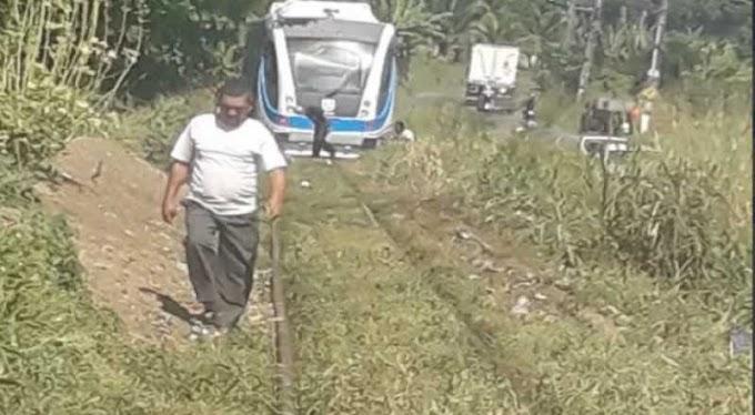 Trem descarrila quando estava saindo da estação, em Santa Rita