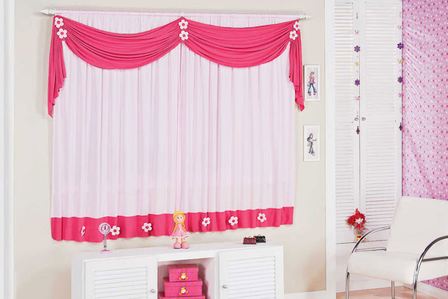 red and white curtains - modern window curtain designs