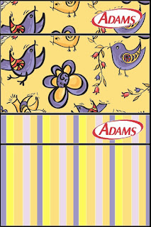 Purple Birds Free Printable Gum Adams Labels.