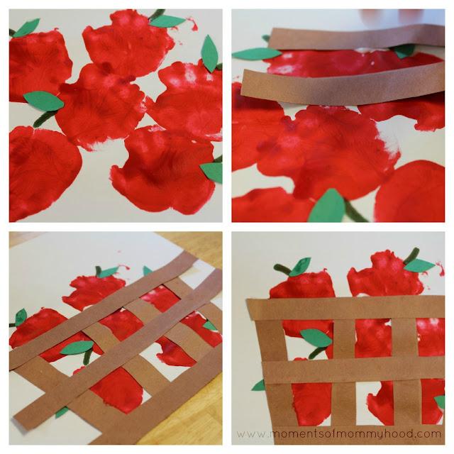 Fruit Basket Art Ideas : Moments of mommyhood hand print apples in a basket