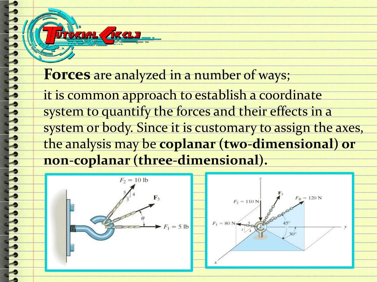 Civil Analysis of Non - Concurrent Force System Notes PDF