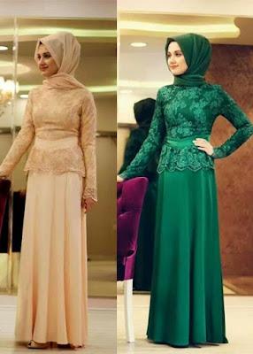 Koleksi Desain Busana Muslim Brokat Stylish