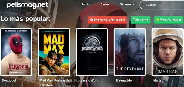 Pelismag.net la aplicación que permite ver películas en linea en idioma español