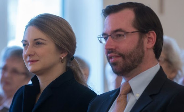 Guillaume, Hereditary Grand Duke of Luxembourg and Stéphanie, Hereditary Grand Duchess of Luxembourg visited Konviktsgaart nursing home in Luxembourg.