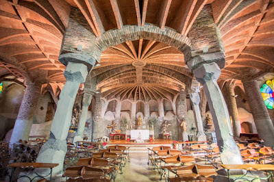 Colonia Guell Church Barcelona by Laurence Norah