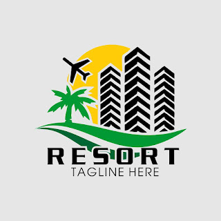 Hotel and Resort Logo Template Free Download Vector CDR, AI, EPS and PNG Formats