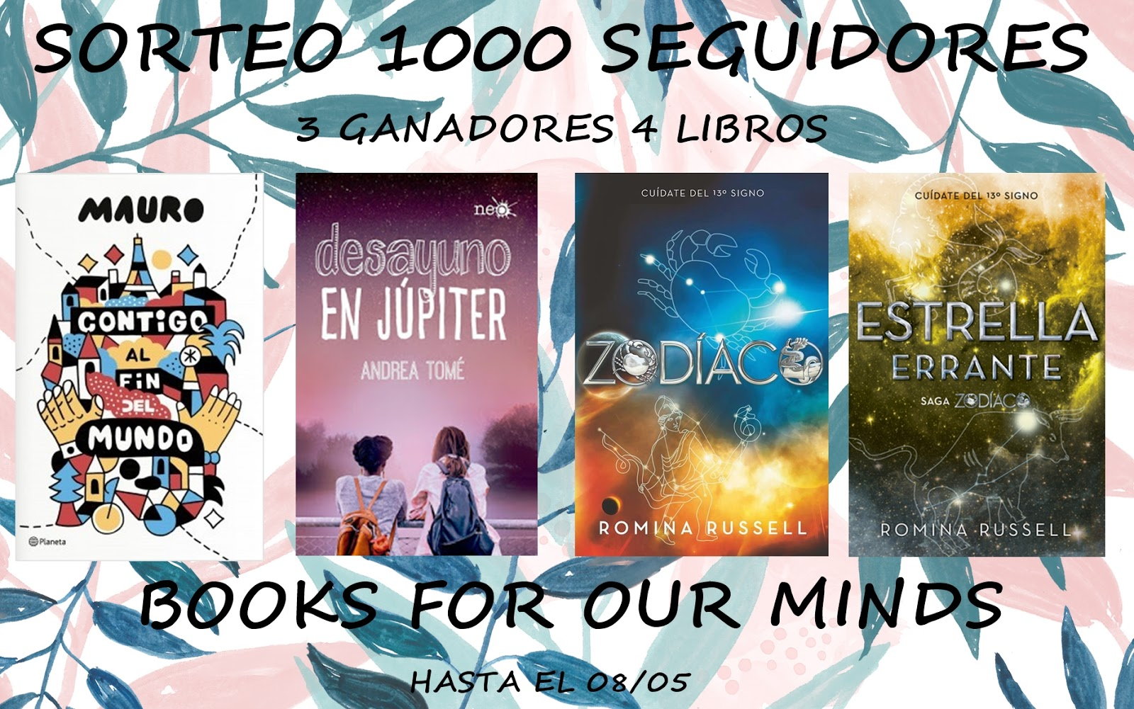 "⚓️ SORTEO EN EL BLOG ""BOOKS FOR OUR MINDS"" ⚓️"